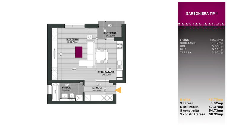 Se vinde apartament, o camera, in Sector 1, zona Aviatiei