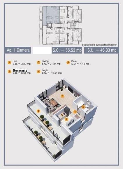 Vanzare apartament, o camera, in Sector 6, zona Giulesti