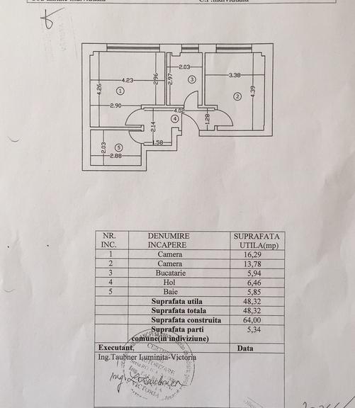 De vanzare apartament, 2 camere, in Sector 1, zona Dorobanti