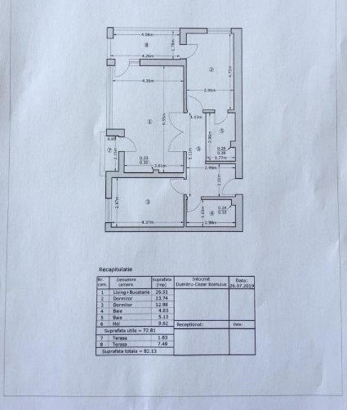 Se vinde apartament, 3 camere, in Sector 4, zona Vacaresti
