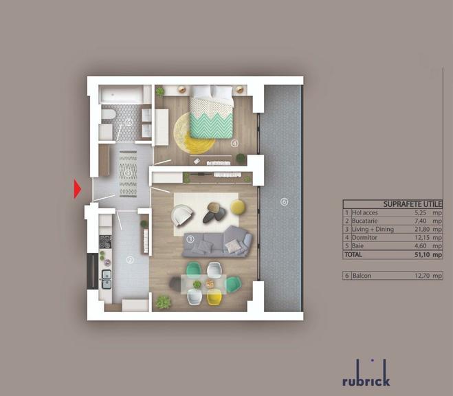 De vanzare apartament, 2 camere, in Sector 2, zona Stefan Cel Mare