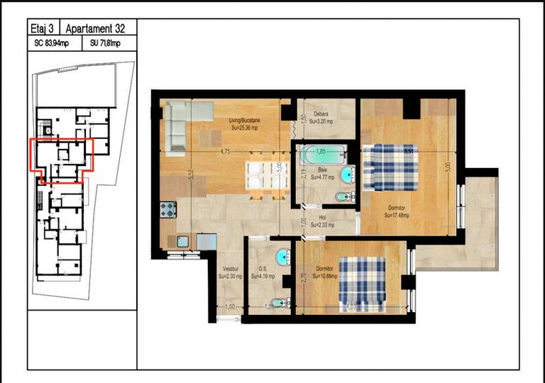 De vanzare apartament, 3 camere, in Sector 2, zona Foisorul De Foc