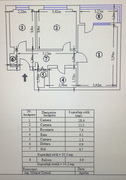 Vanzare apartament, 2 camere, in Sector 1, zona Banu Manta
