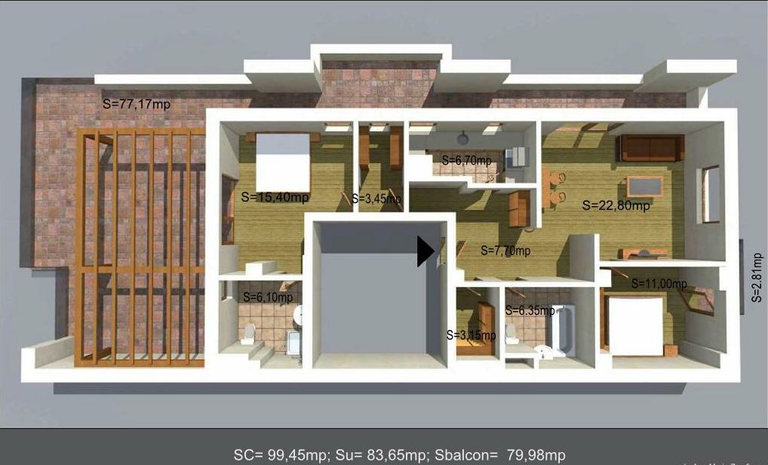 De vanzare apartament, 3 camere, in Sector 1, zona Bucurestii Noi
