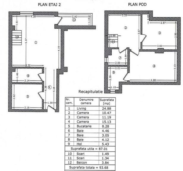 Se vinde apartament, 3 camere, in Sector 1, zona Damaroaia