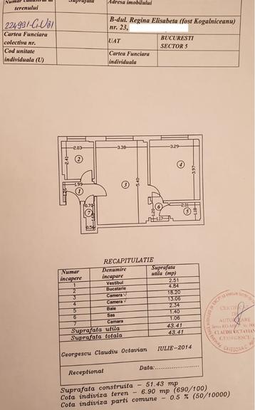 Vanzare apartament, 2 camere, in Sector 1, zona Cismigiu